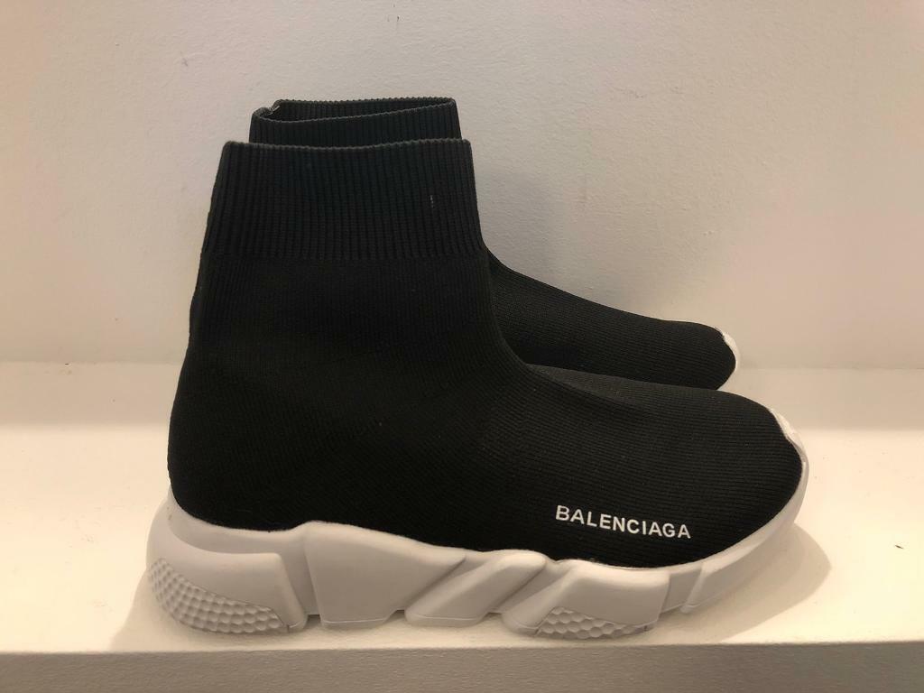 Balenciaga Speed Trainer Black White (2018) StockX