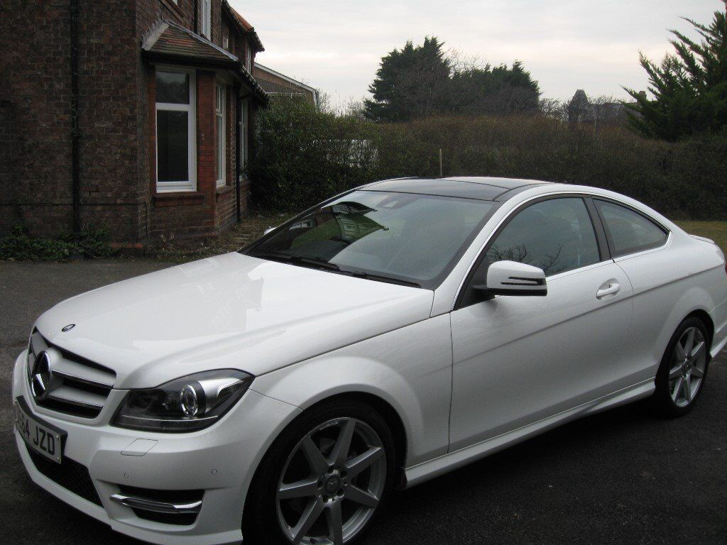 2014 Mercedes C250 Coupe White The