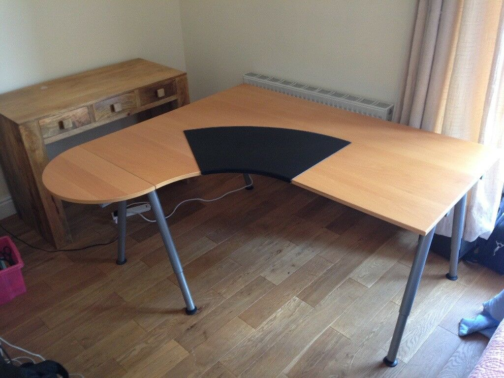 Large Corner Desk With Detachable Extension And Removable Pad Rh Gumtree Com Ikea Curved