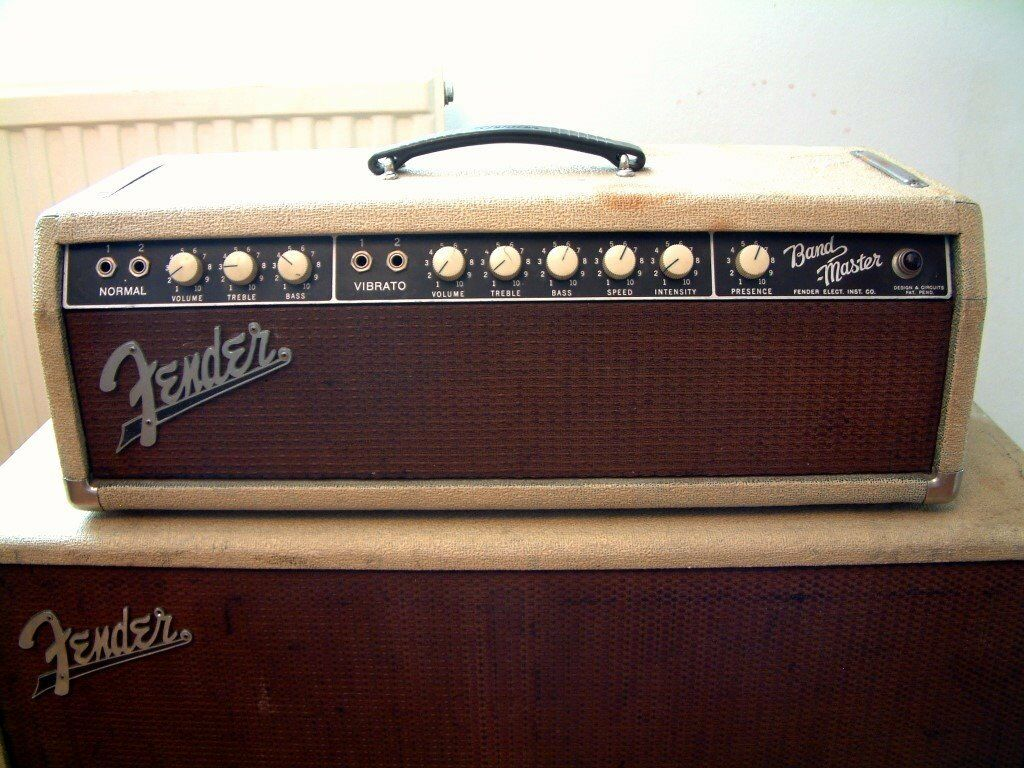 Fender Bandmaster Wiring Diagram Trusted Diagrams Squier Guitar Hss Vintage 1962 6g7 A Blonde Piggyback Amp And Cab Jaguar