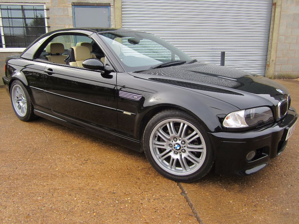 2002 bmw e46 m3 individual convertible black manual heated leather full  history rare extra hard top ...