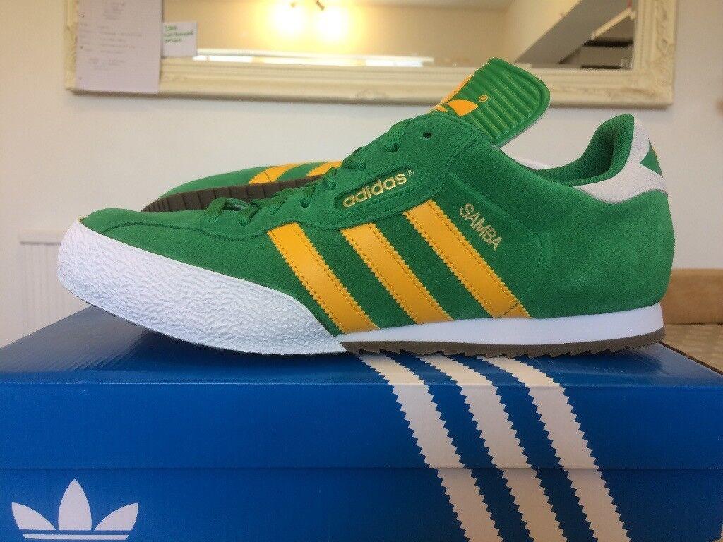 adidas originals samba super green, OFF