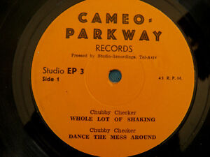 Chubby-Checker-Bobby-Rydell-SUPER-RARE-Israeli-7-034-Cameo-Parkway-Northern-Soul