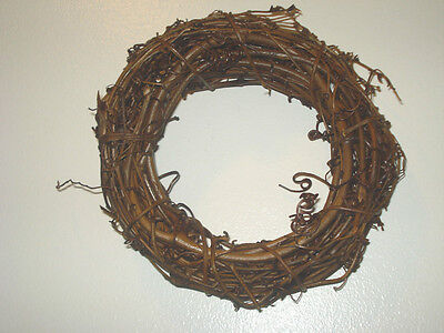 """Lot of 6 8"""" Grapevine Wreaths"""