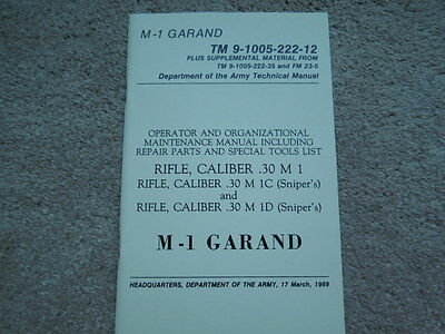 Vietnam 1969 Dated .30 Cal M1 Garand Technical Manual
