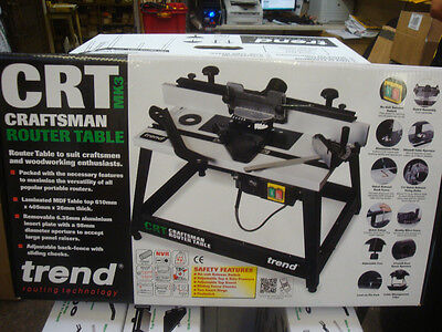 BRAND NEW TREND CRT/MK3 CRAFTSMAN ROUTER TABLE 240V + DIAMOND CREDIT CARD STONE