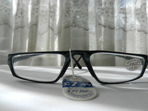 STYLISH-HALF-EYE-CARBON-FIBRE-READING-GLASSES-BLACK-LIGHT-STRONG-MEN-LADEIS-HC21