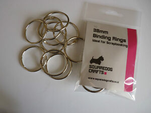38mm METAL BINDING RINGS 10 PK - IDEAL FOR BINDING AND SCRAPBOOKING