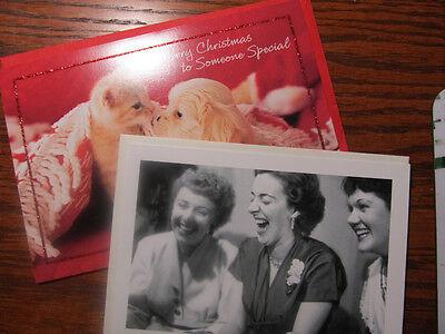 Lot Of 2 Hallmark Shoebox Christmas Friendship Greeting Cards W Envelopes