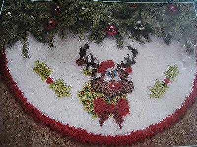 Christmas Sultana Tree Skirt Latch Hook Kit,noel Deer,reindeer,size 34,79612