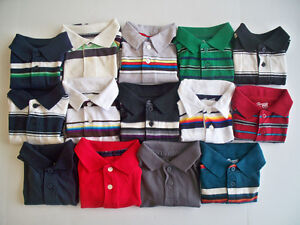 The-Childrens-Place-Boys-Red-White-Blue-Yellow-Gray-Black-Teal-Green-Polo-Shirt