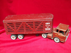 STRUCTO LIVESTOCK TRUCKING METAL TRUCK ORIGINAL LARGE