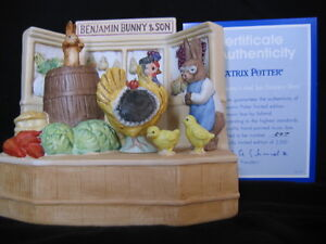 "SCHMID ""LTD EDT BENJAMIN BUNNY AND SON'S GROCERY STORE"" MUSICAL"