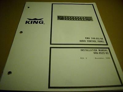 King  KMA 24H-65/66   Audio  Install Manual