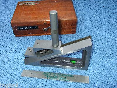 Planer Gage Brownsharpe No.624 Machinist Toolmaker Wooden Case Vintage Qa
