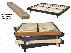 literie sommier en kit d montable 160x200 d co 4 coloris. Black Bedroom Furniture Sets. Home Design Ideas