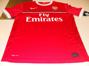 Team-Arsenal-2011-12-Soccer-Pre-Match-Top-Nike-English-Premier-League-NWT-XXL