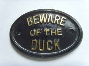Beware duck house sign farm pond garage plaque ebay for Plaque w garage assurance