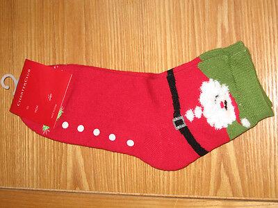 Charter Club Holiday Novelty santa Claus Slipper Socks