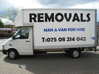 Man and a Van Removals for Hire: don't delay call today!!