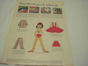 Vintage-Betsy-McCall-Paper-Doll-1958-Betsy-McCalls-goes-to-the-zoo-52-yr-old