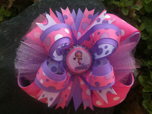 OONA-BUBBLE-GUPPIES-PURPLE-PINK-POLKA-DOTS-BOTTLECAP-HAIRBOW