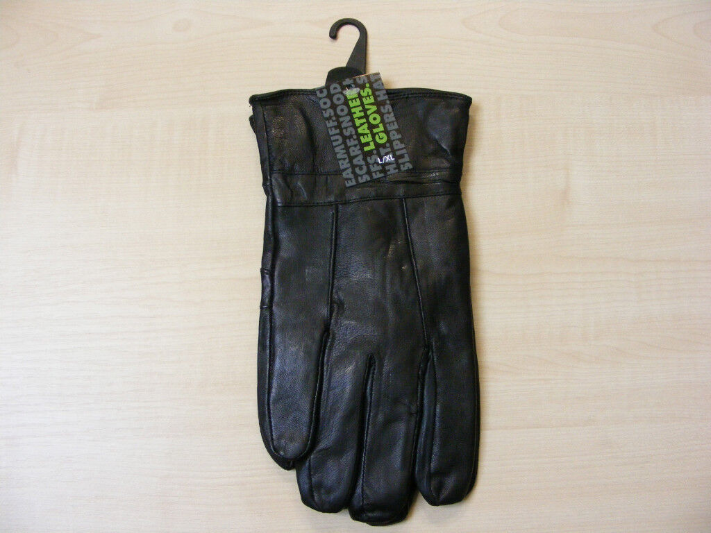 Mens gloves extra large - Mens Large Extra Large Black Luxury Soft Genuine Leather Gloves L Xl New