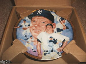 1992-Mickey-Mantle-Hamilton-Collection-Collectors-Plate