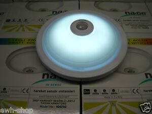 led deckenleuchte deckenlampe lampe mit bewegungsmelder sensor leuchte neu ovp. Black Bedroom Furniture Sets. Home Design Ideas