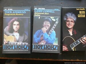 Tuck Andress, Larry Coryell Instructional Guitar VHS & booklets