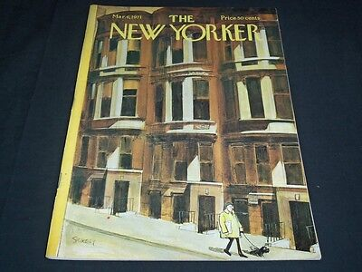 1971 March 6 New Yorker Magazine   Beautiful Front Cover For Framing   C 70