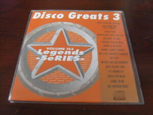 LEGENDS KARAOKE CD+G VOL 153 DISCO GREATS VOL 3  NEW SALE