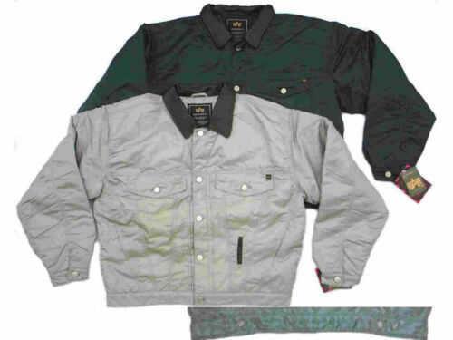 Crusader Alpha Industries Nylon Jeans Jacke Silber S Xxl In