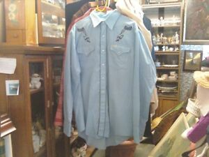 LARGE AND XL MEN'S WESTERN SHIRTS