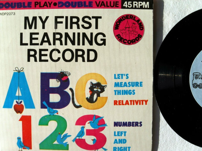 MY FIRST LEARNING RECORD Measure Numbers Wonderland Double Play Record Near Mint