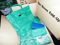 Blank reusable non-woven polypropelyne bags