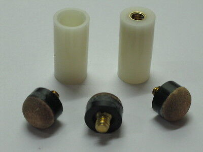 NEW Pool Cue Stick Ferrules & 3 Screw-On Tips 12mm Hard