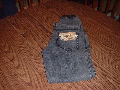 Tyte Women's Jeans Stir-up Leg Style (nwt) Size 11 Black 5 Pocket Style