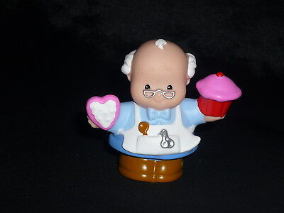 Fisher Price Little People Valentine's Day Baker Bob Grandpa