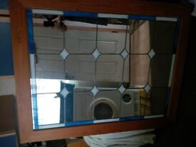 large leaded glass mirror
