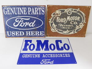 Ford-Parts-Car-Lot-Garage-Signs-Dealer-Logo-Oval-Emblem-Vintage-Style-Car-Truck