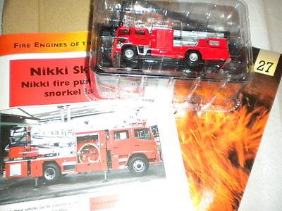 Del Prado World Fire Engines - Japan 2003 Nikki Skyarm Boxed Code 27