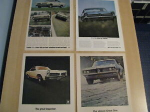 Pontiac Original Ads 1963 1964 1966 1967 1968 1969 1970