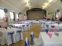 Chair Cover Hire, Table Linen Hire, Wedding/Events Decorations, Centrepieces at Great Prices!