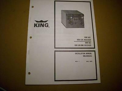King KNR 601 and KNR 661 NAV RMI install & ops manual