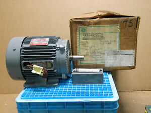 Ge Electric Motor 575 Volt Model No 5k184ax9530 3 Phase Hp