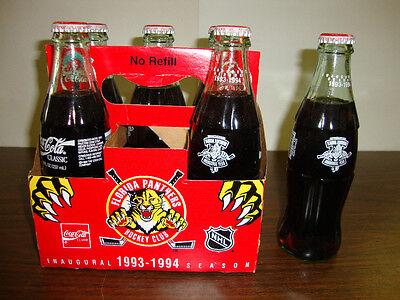 (1993-1994 Florida Panthers--Inaugural Season--6-Pack Of Coke--All Full--W/Carton)