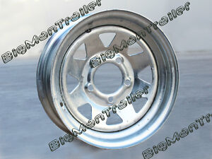 Galvanised-Sunraysia-Rim-14-Ford-Wheel-Pattern-Trailer-Part-New-Caravan-Boat