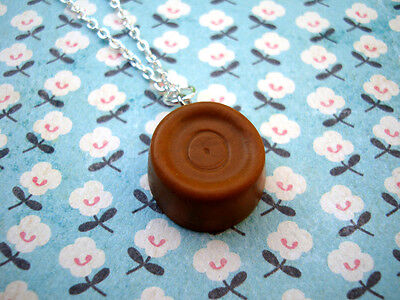 ♥FUNKY ROLO NECKLACE KITSCH RETRO SNACK FOOD JUNK CUTE CHOCOLATE SWEET KAWAII♥