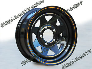 Black-Sunraysia-Rim-14-HT-Holden-Wheel-Pattern-Trailer-Part-Caravan-Boat-Camper